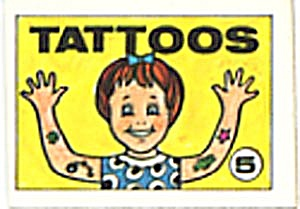 Cracker Jack Toy Prize: Tattoos 5