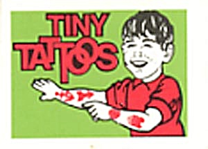 Cracker Jack Toy Prize: Tiny Tattoos Green Boy (Image1)