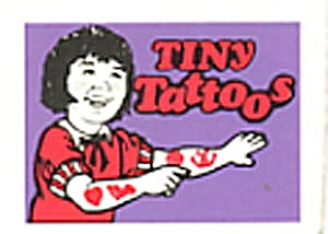 Cracker Jack Toy Prize: Tiny Tattoos Purple Girl