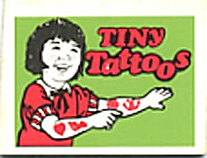 Cracker Jack Toy Prize: Tiny Tattoos Lime Girl