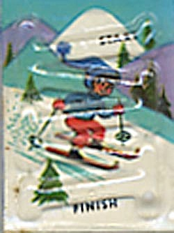 Cracker Jack Toy Prize: Skier Dexterity Game
