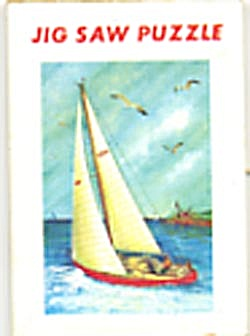 Cracker Jack Toy Prize: Sailboat Jig Saw Puzzle (Image1)