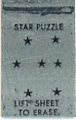Cracker Jack Toy Prize: Lift To Erase Star Puzzle (Image1)