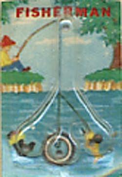 Cracker Jack Toy Prize: Fisherman Dexterity Game (Image1)