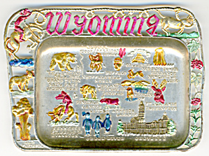 Vintage Wyoming Metal Ashtray (Image1)