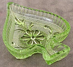Depression Green Glass Ashtray