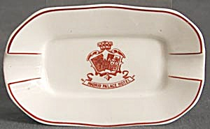 Vintage Madrid Palace Hotel Porcelain Ashtray (Image1)