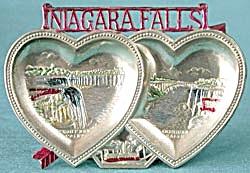 Vintage Niagara Falls Double Heart Ash Tray (Image1)