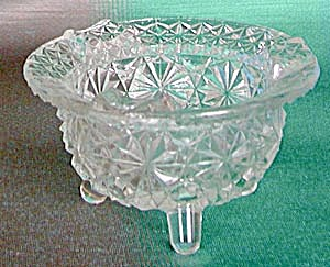 Vintage 3 Legged Glass Ashtray (Image1)