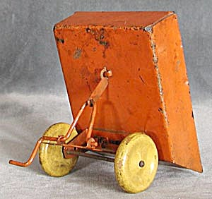 Vintage Orange & Yellow Metal Trailer (Image1)