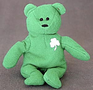 TY Green Teddy Bear (Image1)