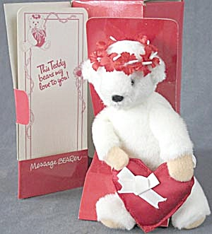 North American Bear Message Bearer Valentine