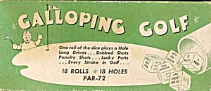 Vintage Galloping Golf Game (Image1)