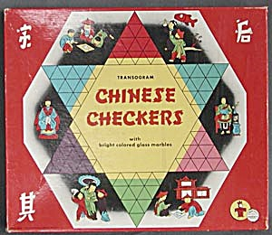 Vintage Transogram Chinese Checker Board