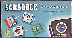 Vintage Scrabble For Juniors Board Game