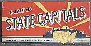 Vintage Game Of State Capitals