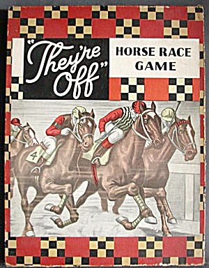"Vintage ""they're Off"" Horse Race Game"