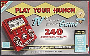 Vintage Play Your Hunch Game