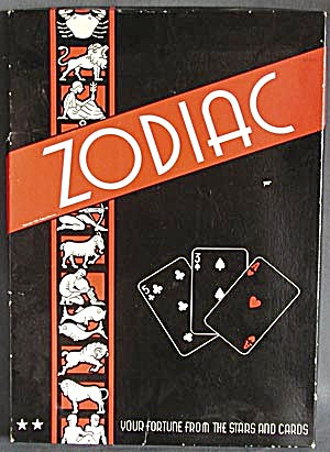Vintage Zodiac Your Fortune From The Stars & Cards