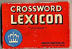 Vintage Parker Brothers Crossword Lexicon Game