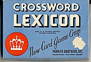 Vintage Crossword Lexicon Game Blue