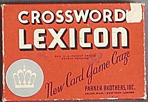 Vintage Crossword Lexicon Game Red
