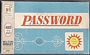 Vintage 1962 Password Game