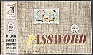 Vintage Password Milton Bradley Game