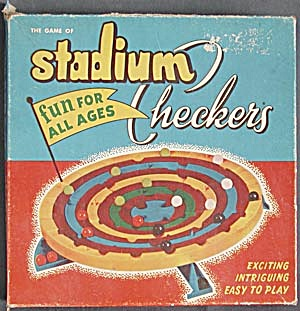 Vintage 1952 Stadium Checkers Game