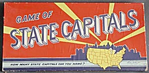 Vintage Parker Brothers Game of State Capitals (Image1)