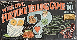 Vintage Wise Owl Fortune Telling Game & 10 Other Games (Image1)
