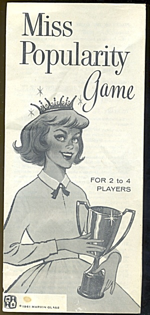 Vintage Miss Popularity Game Instructions