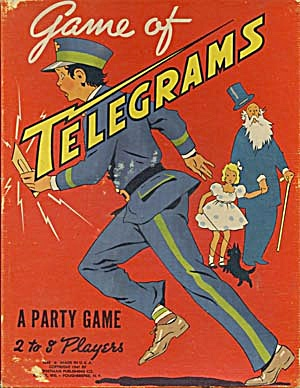Vintage Game Of Telegrams A Party Game