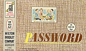 Vintage Password Tv Show Game