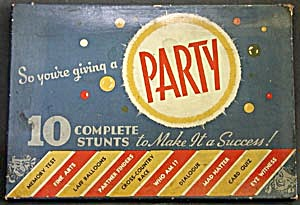 Vintage So Your Giving A Party Game