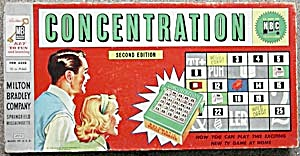 Concentration 1958 Game 2nd Edition As Seen On Nbc