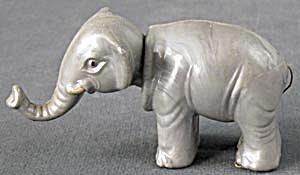 Vintage Gray Elephant Plastic Nodder (Image1)