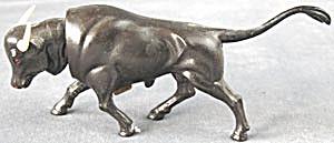 Vintage Black Bull Plastic Nodder (Image1)