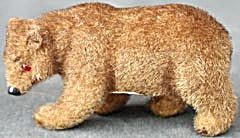 Wagner Kunstlerschutz Standing Flocked Bear (Image1)
