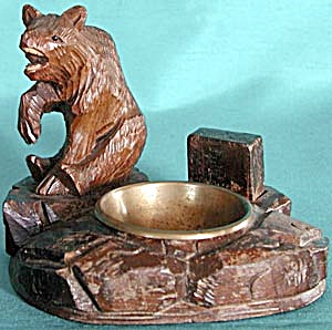 "Vintage ""Black Forest"" Bear Match Holder & Ashtray (Image1)"