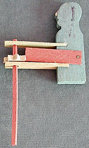 Vintage German Wooden Toy Man Noise Maker (Image1)