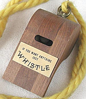 Vintage Large Wooden Whistle Novelty (Image1)