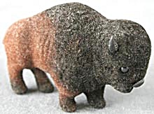 Wagner Kunstlerschutz Standing Flocked Bison (Image1)