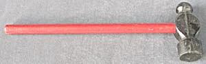 Vintage Wood and Metal Toy Hammer (Image1)