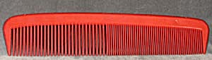 Oversized Red Plastic Comb (Image1)