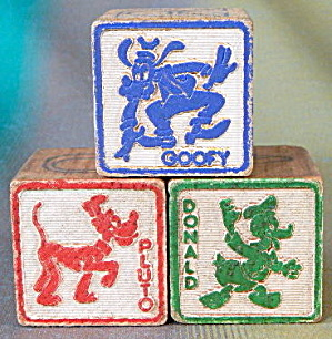 Vintage Wooden Disney Blocks