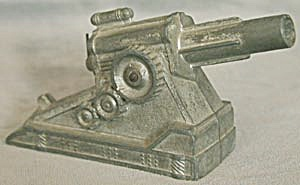 Vintage Toy Metal Cannon (Image1)