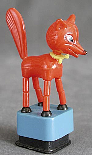 Vintage Fox Push Toy