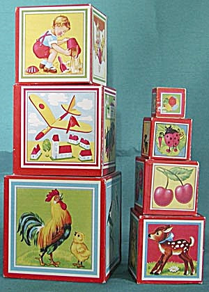 Vintage German Nesting Building Blocks (Image1)