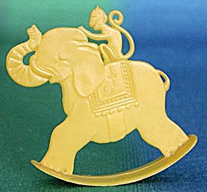 Vintage Rocking Elephant & Monkey (Image1)